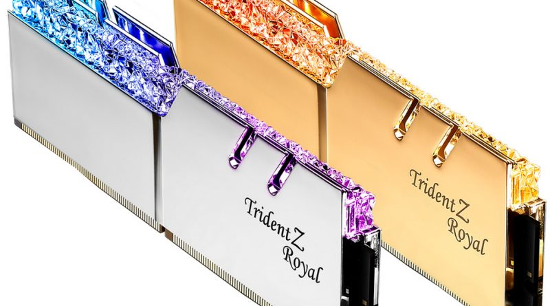 G.Skill Releases Its Trident Z Royal @ 5000 MHz Memories Optimized For Intel Core 10th Gen