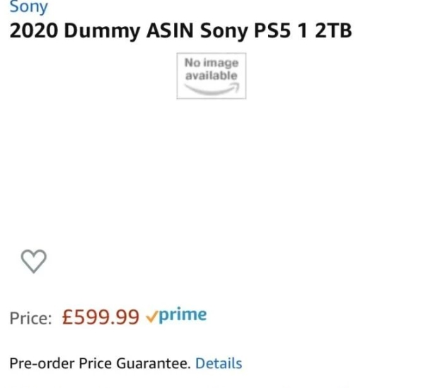 Possible price of the PS5 appears on Amazon indicates that the console would be expensive
