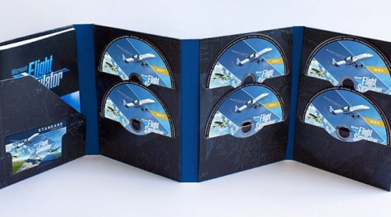 Microsoft Flight Simulator arrives in the form of 10 double-layer DVDs in their physical version
